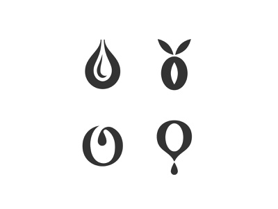 Oro Verde simple symbol mark icon logo leaf drop olive branch letter tree olive olive oil
