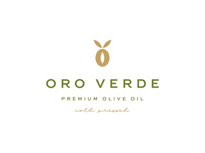 Oro Verde verde oro leaf oil olive food luxury symbol mark icon logo