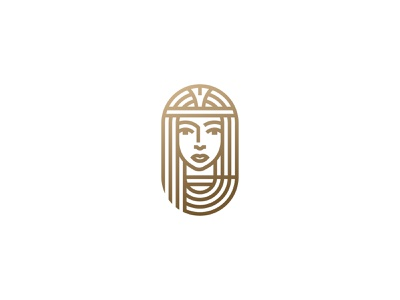 Ancient Egyptian Goddess ancient god egypt symbol mark icon logo woman portrait