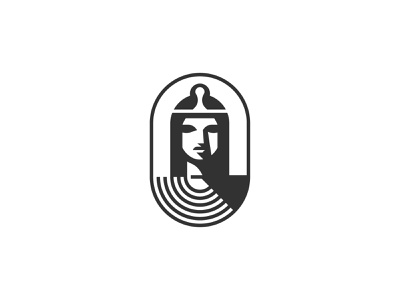 Tempio Architecture Solutions symbol mark icon logo ancient egypt goddess portrait woman temple tempio