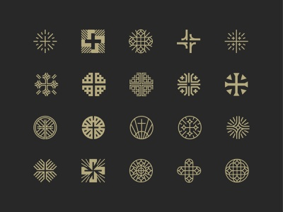 Risen Church Logo Exploration symbol mark icon logo jesus religion light jerusalem cross church risen