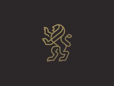 Heraldic Lion king luxury symbol mark icon logo animal lion heraldic