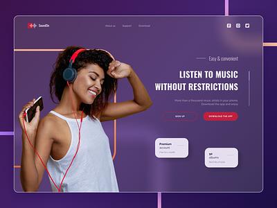 Music app website music concept figma webdesign web app ui design