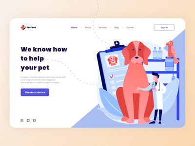 Veterinary clinic concept concept figma webdesign web ui design