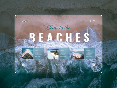 Tours to the beaches website concept webdesign website beach web ui figma design concept