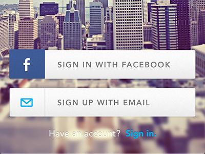 Signup Login Screen - Postmates signup login signin facebook social button