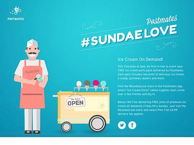 Sundae Love marketing promo illustration microsite