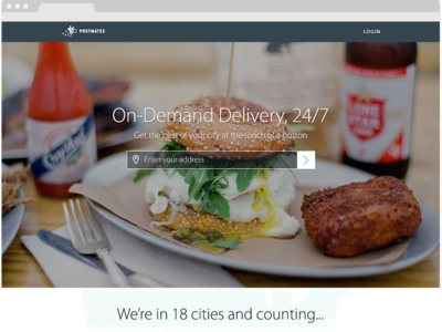 Postmates website landing ux website