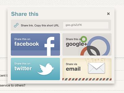 Share This modal share modal social