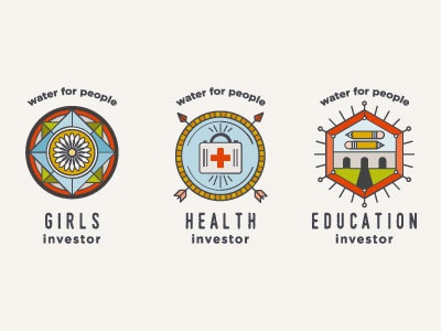 Water Investor Badges logo illustration water non-profit