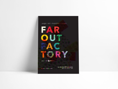 far out factory mmj event design experiential poster