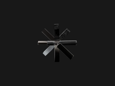 Asterisk logo animation 3d render c4d 3d art digital art experiment typogaphy