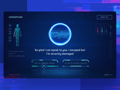 Sign-Up Experience for an AR Mobile Game dark interface ai web design signup web experience zajno