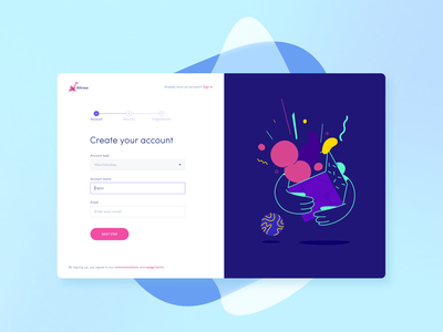Login Form for Altrüus Gifting Platform log in form sign up sign in login illustartion vibrant emotion emotional social zajno bright colors product gift present design