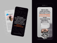 Mobile Landing Page Inspired by Neuralink minimalist minimal bright colours contrast future futuristic innovative brutal bold bold typography innovation promo website website mobile website landing page neuralink technology mobile zajno