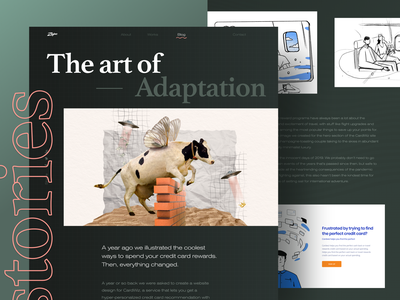 New Blog Article - The Art of Adaptation adaptability experience art 2020 wow dark brutal bold unconventional collage article blog website design web