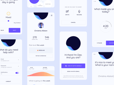 Mobile App for a Maslo-Powered Product behavior mental state psychological psychology companion wellbeing therapist emotional health self-awareness self-care empathy technology alive ai product application app design mobile zajno