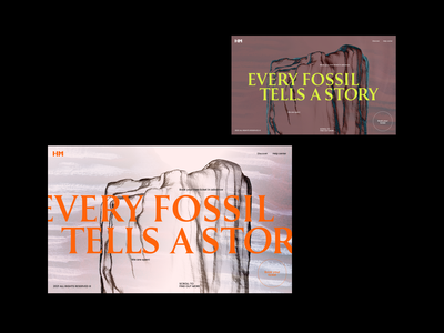 Every Fossil Tells A Story education science fossil history musseum bold cinema 4d c4d 3d model 3d zajno web design