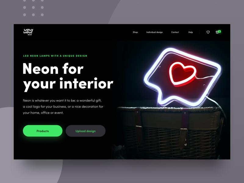 Website Design for Neon Startup promo experience interior design product iridescent ux ui data visualization accent startup experimental experiment futuristic neon dark bright colors website web design zajno