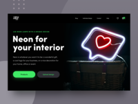 Website Design for Neon Startup