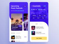 Mobile App for Hunting Music Festivals
