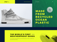 Promo Website for Eco-Friendly Shoes