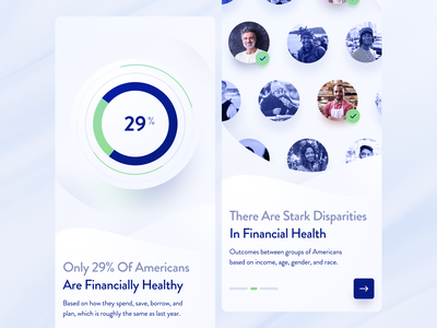 Onboarding for a Financial Health Report finance zajno mobile