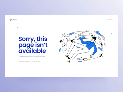 Travel Reward Credit Card Service Website: Page not Found page not found 404 character design web illustration zajno