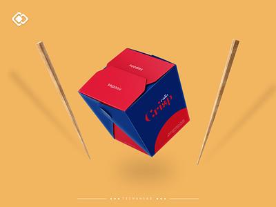 Cafe Crisp Noodle Box ui illustration design logo illustrator branding design branding concept branding and identity vector on demand restaurant food delivery food packaging package print branding brand