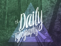 Daily Typography starts today