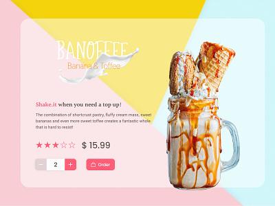 Banoffee! cookies sweet milk diary thirsty drink milkshake