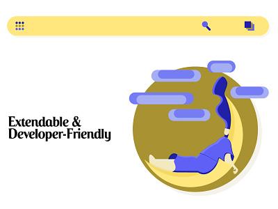 Graphic element for website web design website 2d art design illustration vector