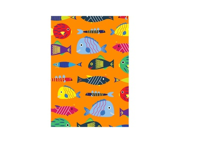 Fish pattern graphic design design vector illustration pattern