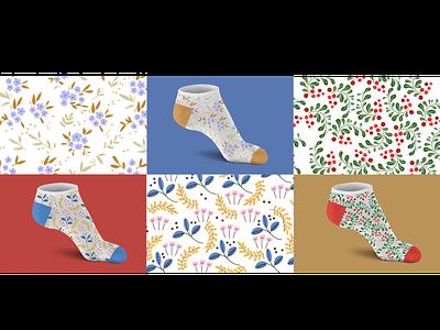 Socks pattern pattern graphic design design vector illustration