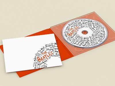 The Beatles CD graphic design vector design illustration