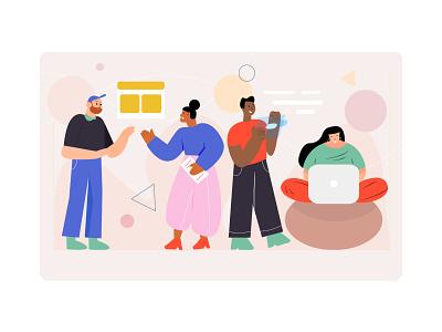 "Illustration ""Working environment"" design graphic design vector illustration"