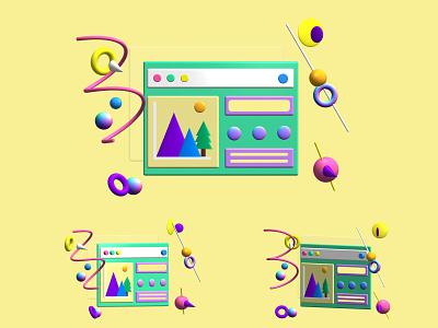 Web 3D model website graphic design design 3d 3d art