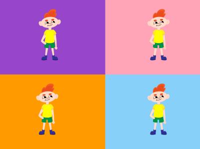 Сhild character design painting graphic design vector illustration