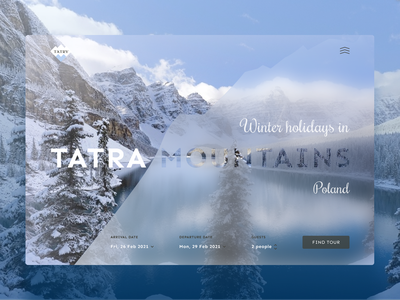 Mountain tour agency website minimal website web ui design branding