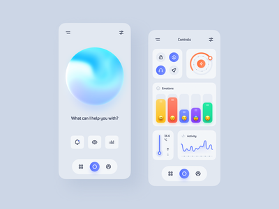 Neuralmind - App Concept dark light clean mobile after effects motion graphics animation brain neuralink design mind concept ui app