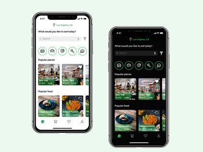 Food Delivery App ui food app flat design delivery app app