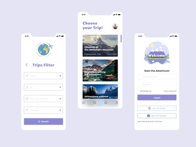 Travel App travel app travel ui design app