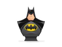 Batman vector movie illustration avatar icon hero dc comic superhero bust batman