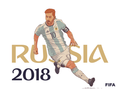 Messi world cup illustration soccer lionel messi goal football fifa 2018 vector argentina 10