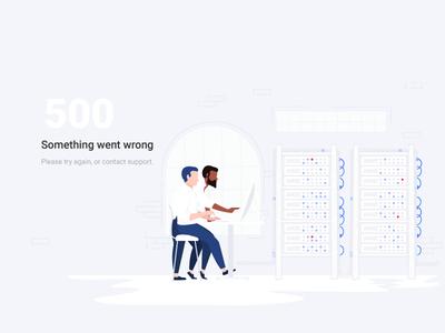 Error 500, Internal Server Error character repair web server illustration internal server error error 500