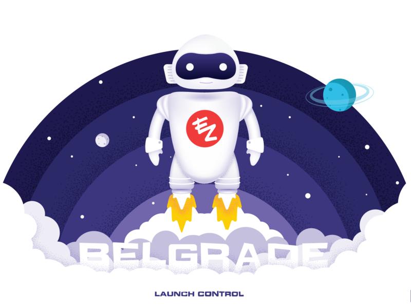 We have a liftoff features ezderm belgrade rocket liftoff launch space robot
