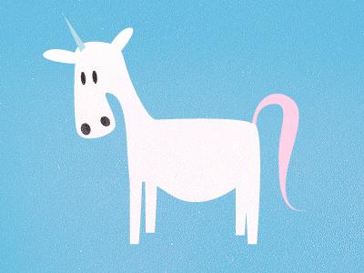 Unicorn unicorn blue pink dandruf