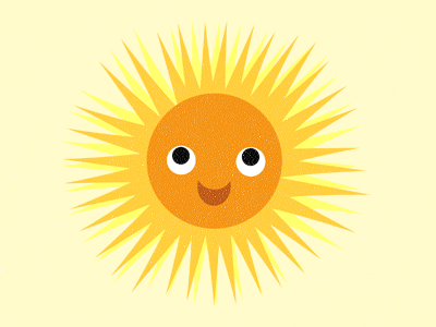 Mr Smiles sun smile cute face eyes mouth shine sunny happy orange yellow grin