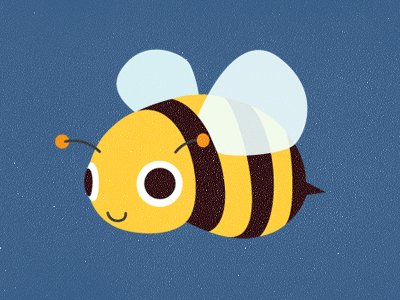Beautiful Bee bee wings stripes yellow black buzz flying blue hunny bee insect sting cute eyes