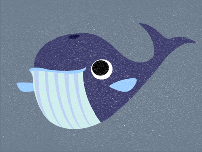 Whale of a time! whale water ocean critter cute simple grey blue